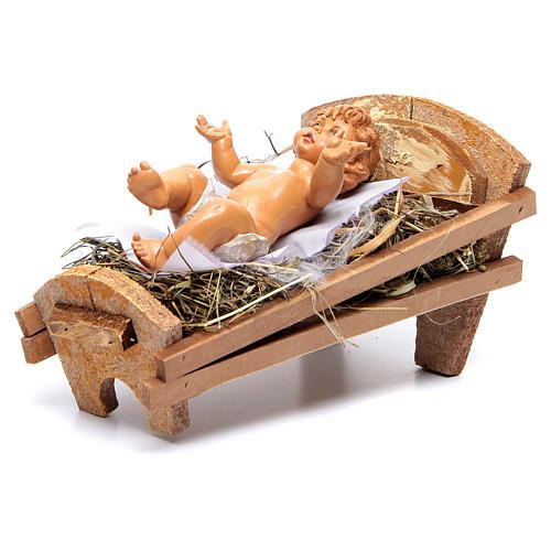 Gesù Bambino e culla presepe Fontanini 45 cm 5