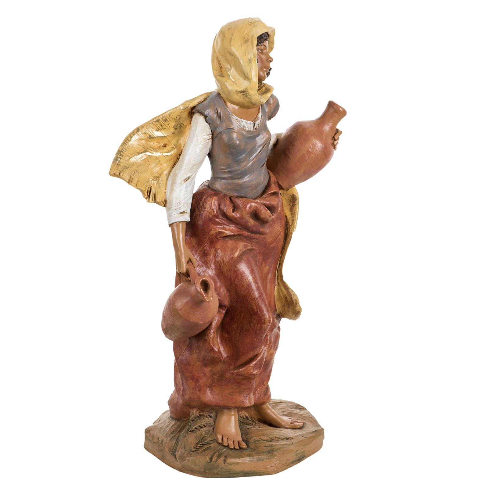 Femme avec amphore crèche Fontanini 45 cm 3