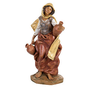 Femme avec amphore crèche Fontanini 45 cm s1