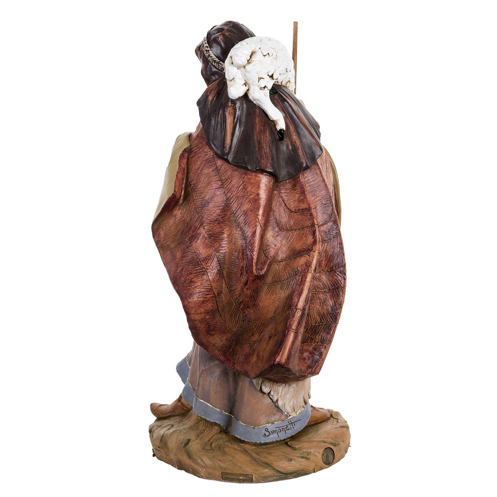 Pastore con pecora presepe Fontanini 45 cm 3