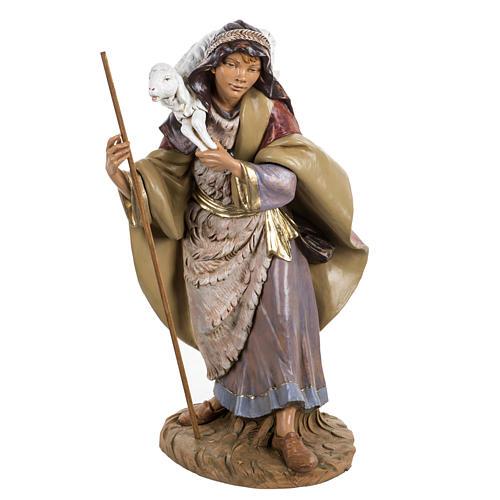 Pastore con pecora presepe Fontanini 45 cm 1