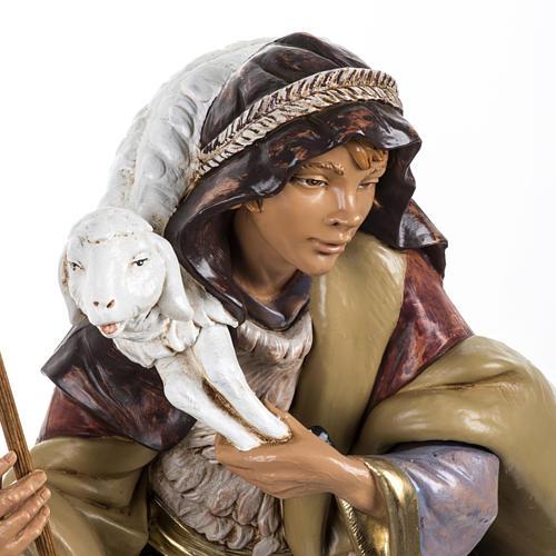 Pastore con pecora presepe Fontanini 45 cm 2