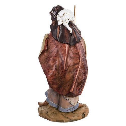 Pastore con pecora presepe Fontanini 45 cm 4