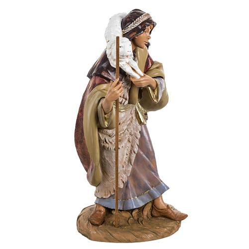 Pastore con pecora presepe Fontanini 45 cm 5
