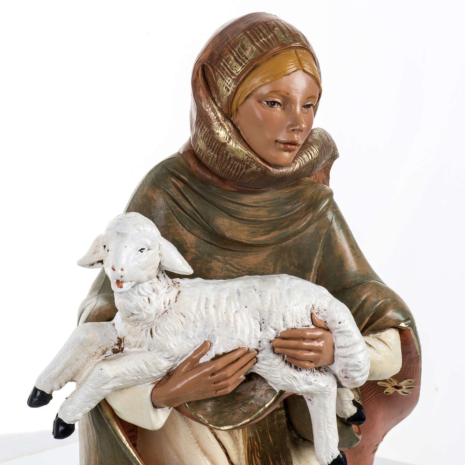 Donna con agnello presepe 45 cm Fontanini 3