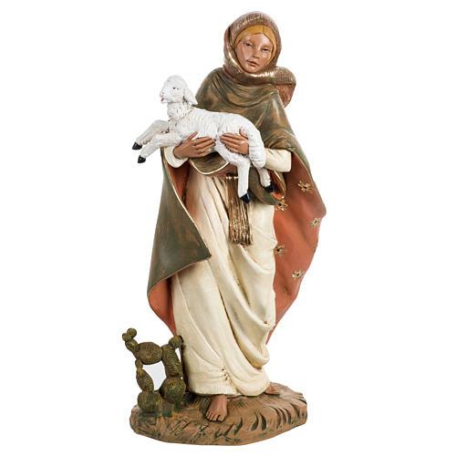Donna con agnello presepe 45 cm Fontanini 1