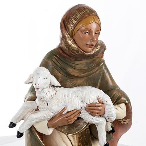Donna con agnello presepe 45 cm Fontanini 2