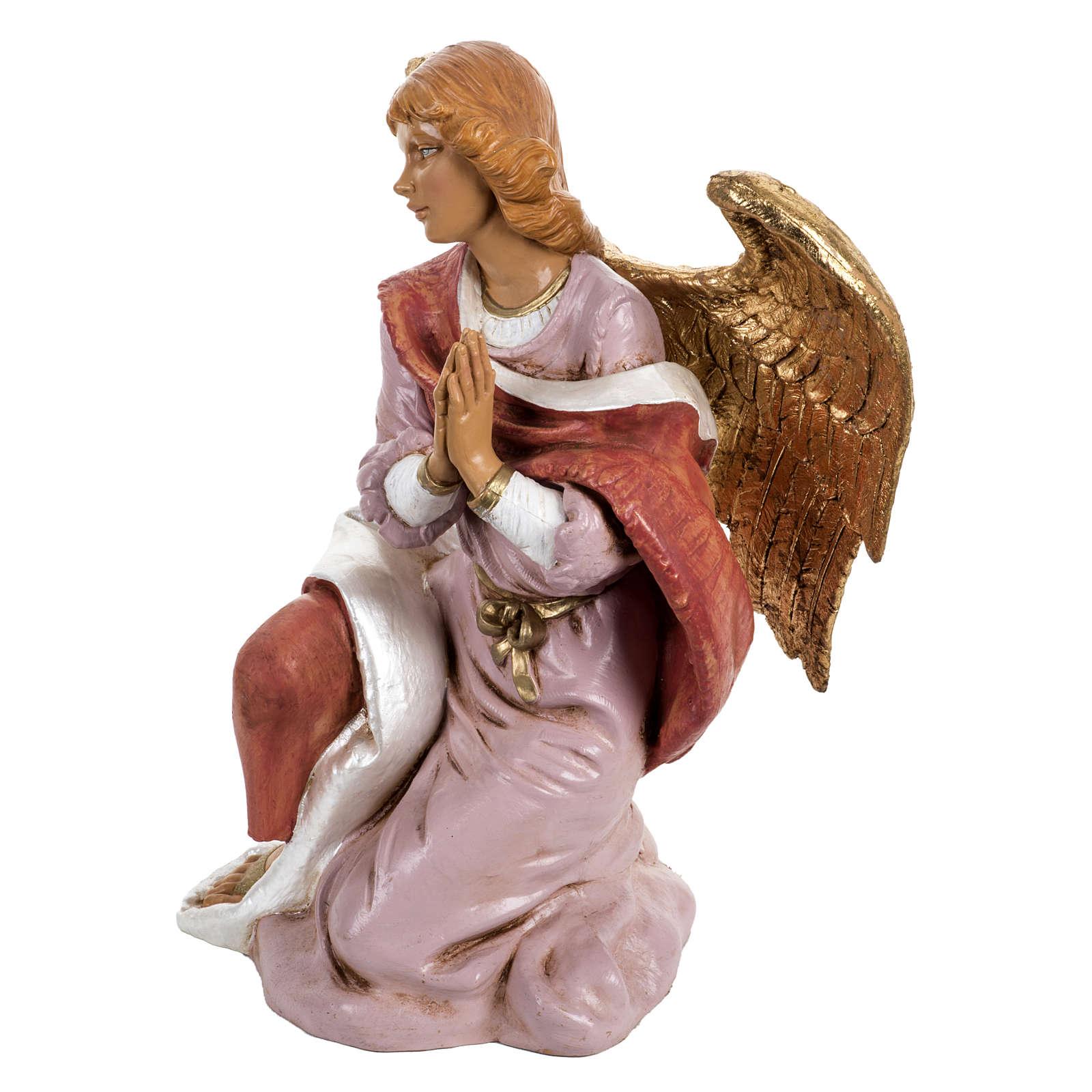 Angeu à genoux crèche Fontanini de 45 cm 3