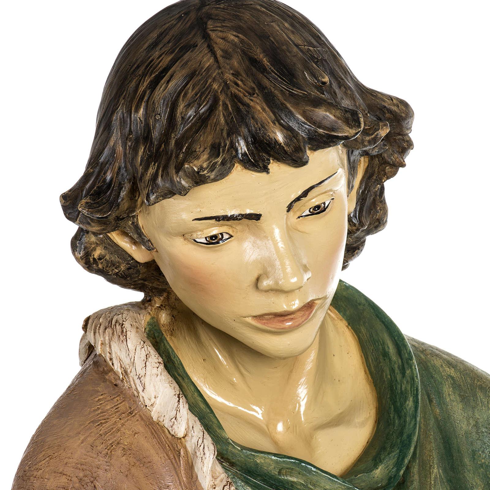 Pastore con pecora 180 cm resina Fontanini 3