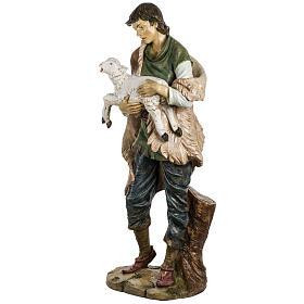 Pastore con pecora 180 cm resina Fontanini s2
