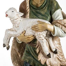 Pastore con pecora 180 cm resina Fontanini s3