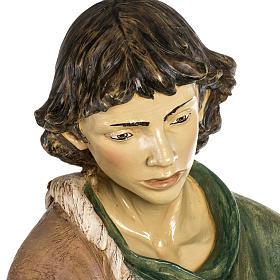 Pastore con pecora 180 cm resina Fontanini s7