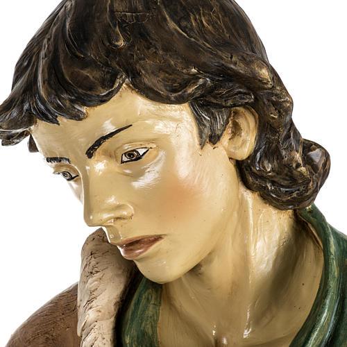 Pastore con pecora 180 cm resina Fontanini 4