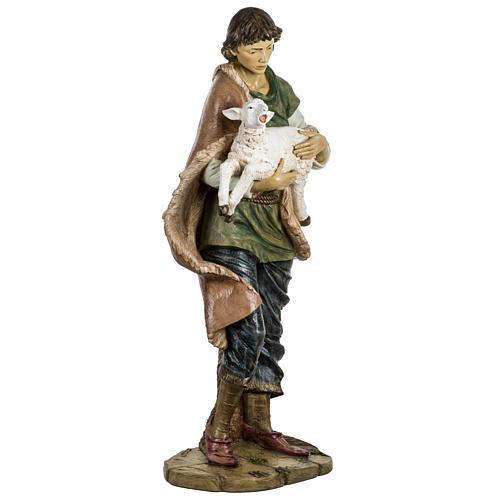 Pastore con pecora 180 cm resina Fontanini 5