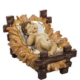 Niño Jesús 180 cm. con cuna resina Fontanini s1