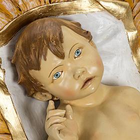 Niño Jesús 180 cm. con cuna resina Fontanini s2