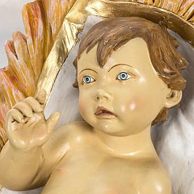Enfant Jésus et crèche 180 cm résine Fontan s3