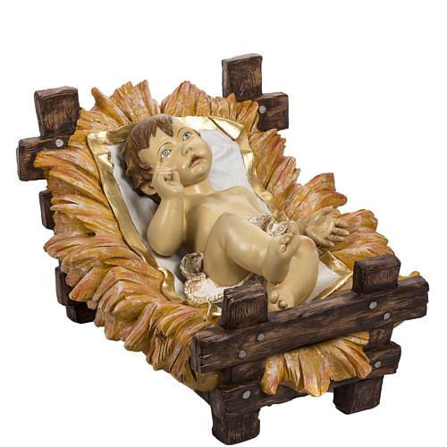 Enfant Jésus et crèche 180 cm résine Fontan 1