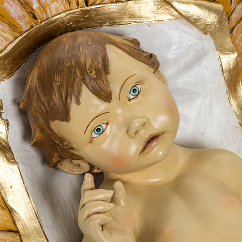 Enfant Jésus et crèche 180 cm résine Fontan 2