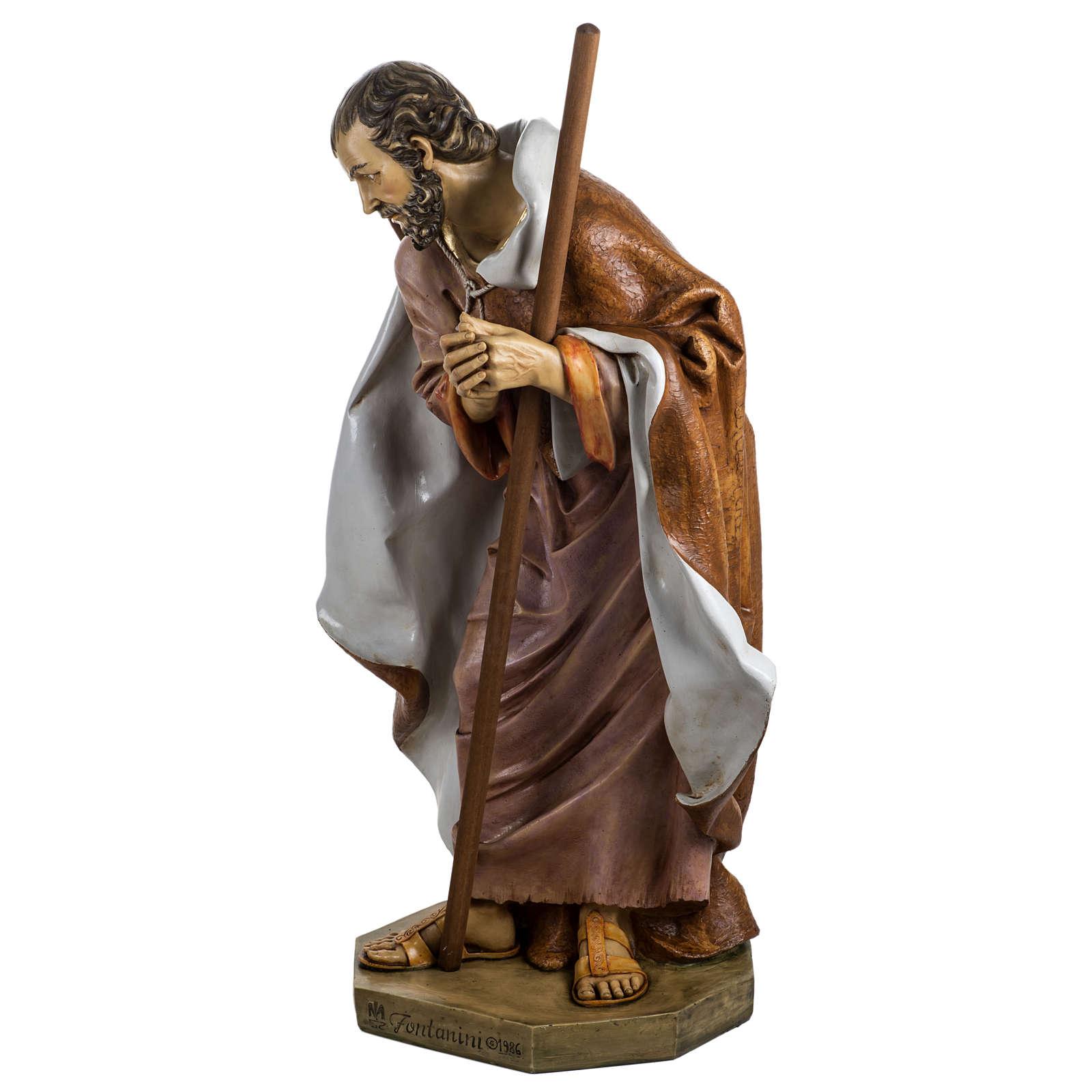 Saint Joseph crèche Fontanini 125 cm résine 3