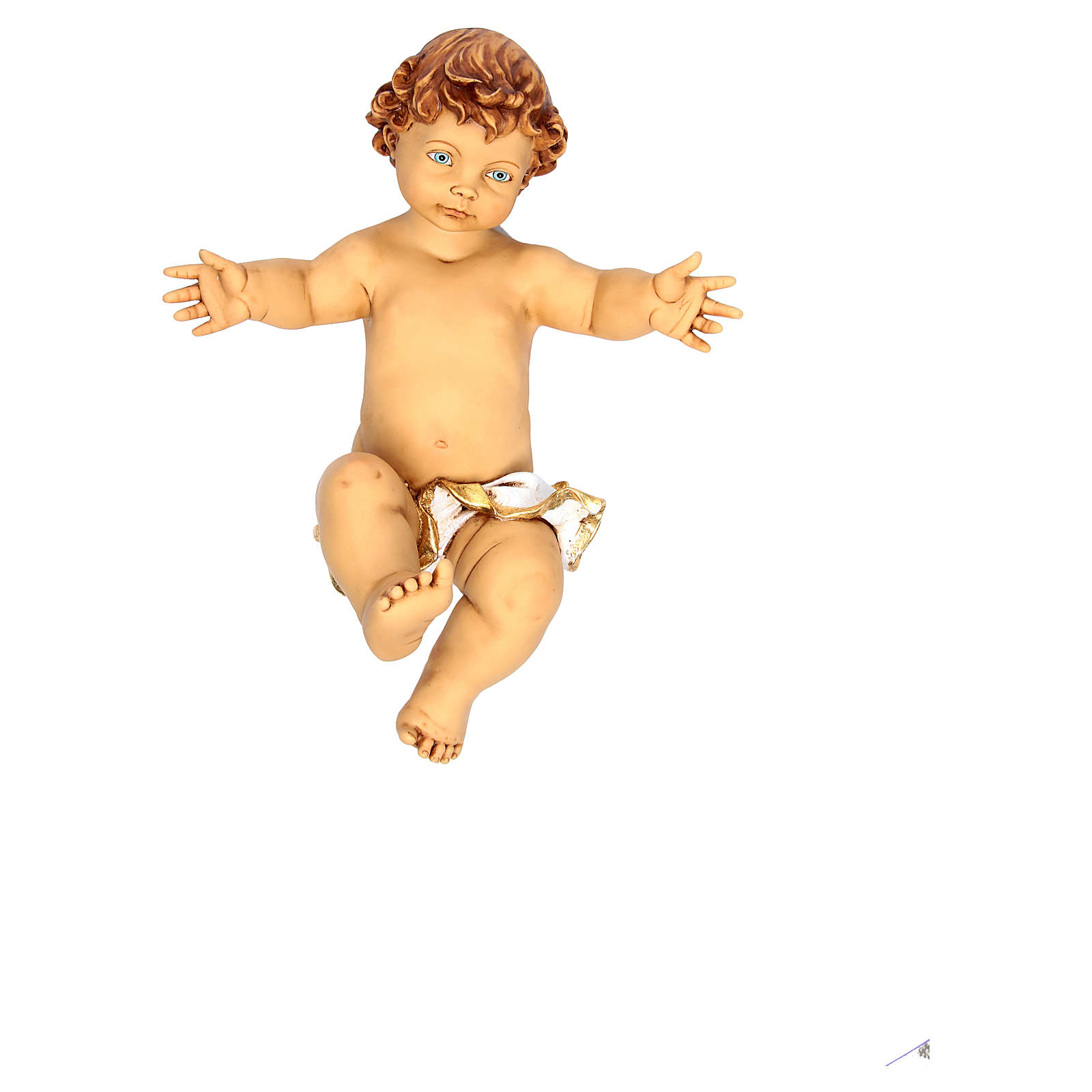 Jesuskind 125 cm mit Wiege Fontanini Harz 4