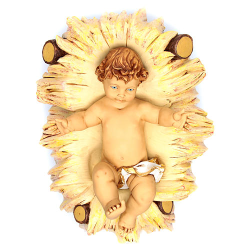 Niño Jesús 125 cm. con cuna resina Fontanini 1