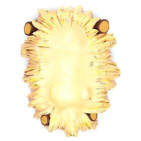 Bambinello 125 cm con culla resina Fontanini s4