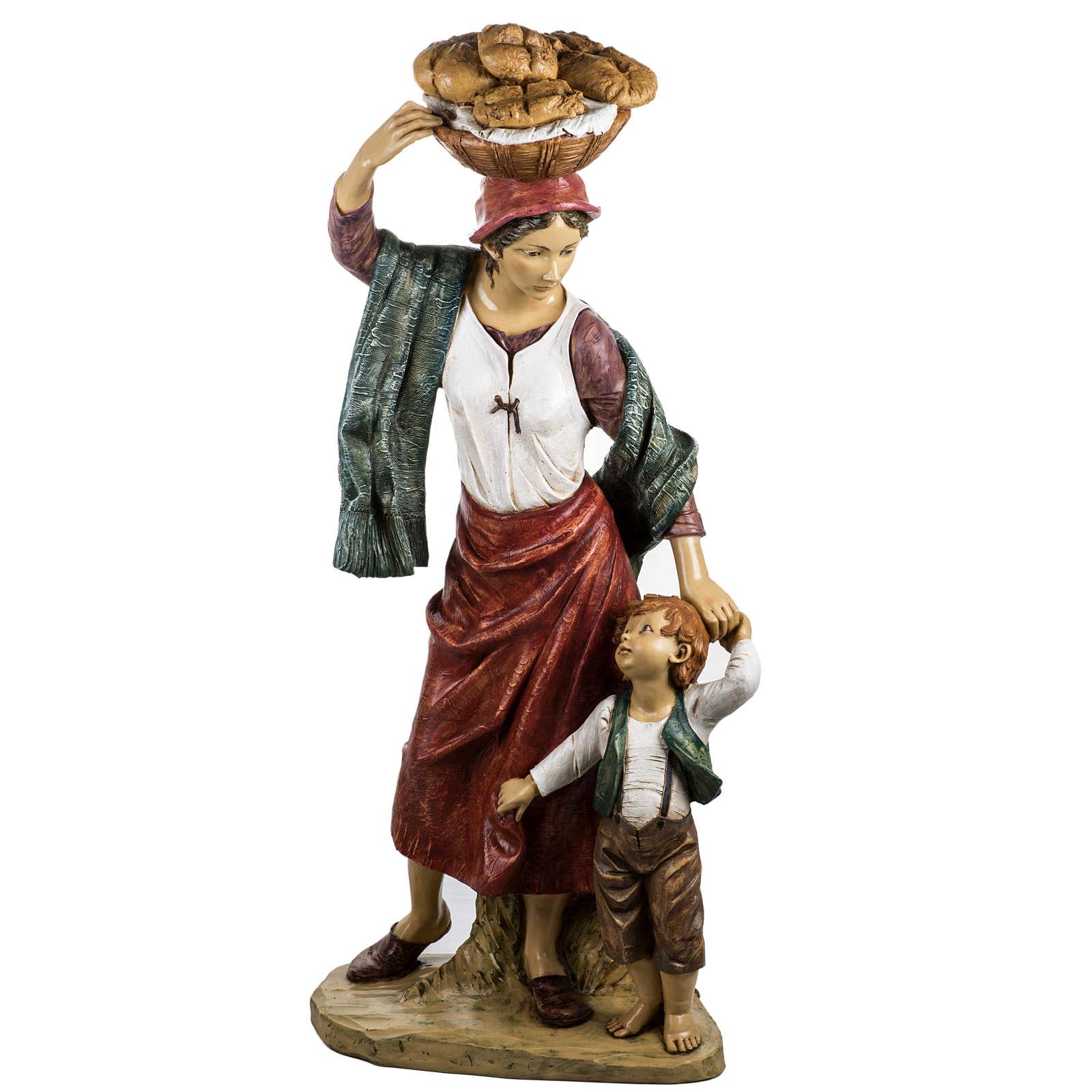 Donna con bimbo 125 cm resina Fontanini 3