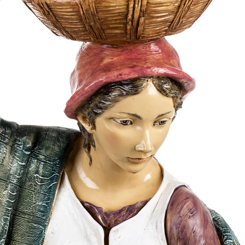 Donna con bimbo 125 cm resina Fontanini 2