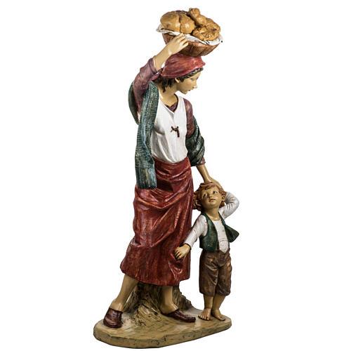 Donna con bimbo 125 cm resina Fontanini 7