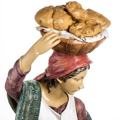 Donna con bimbo 125 cm resina Fontanini 8