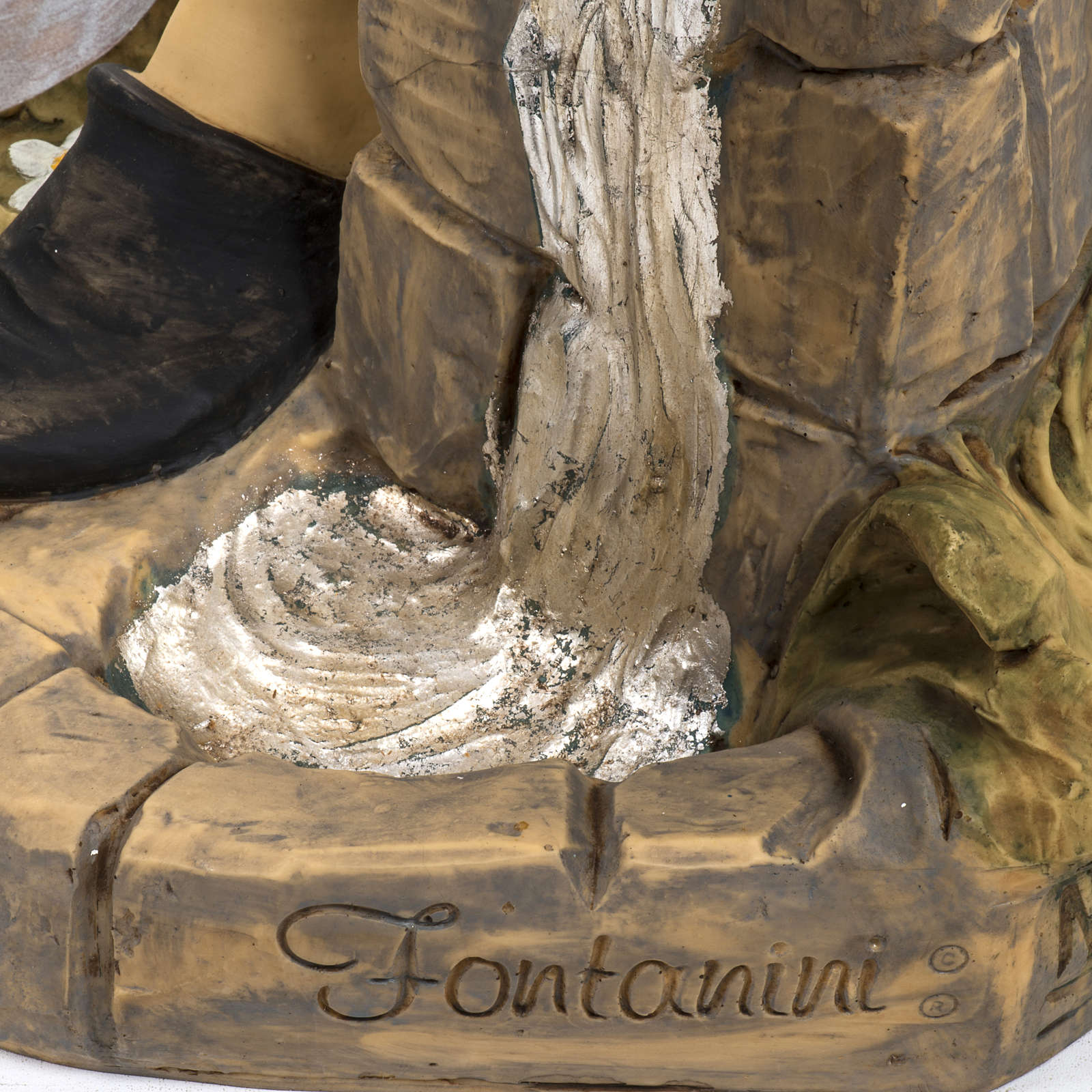 Berger avec seaux crèche Fontanini 125 cm résine 3