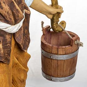 Berger avec seaux crèche Fontanini 125 cm résine s5