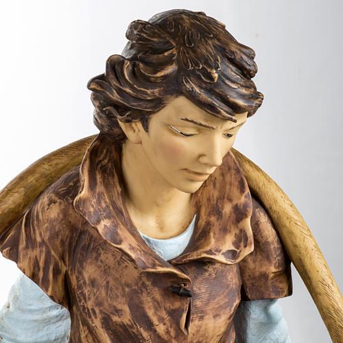 Berger avec seaux crèche Fontanini 125 cm résine 2