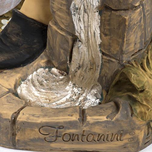 Berger avec seaux crèche Fontanini 125 cm résine 7
