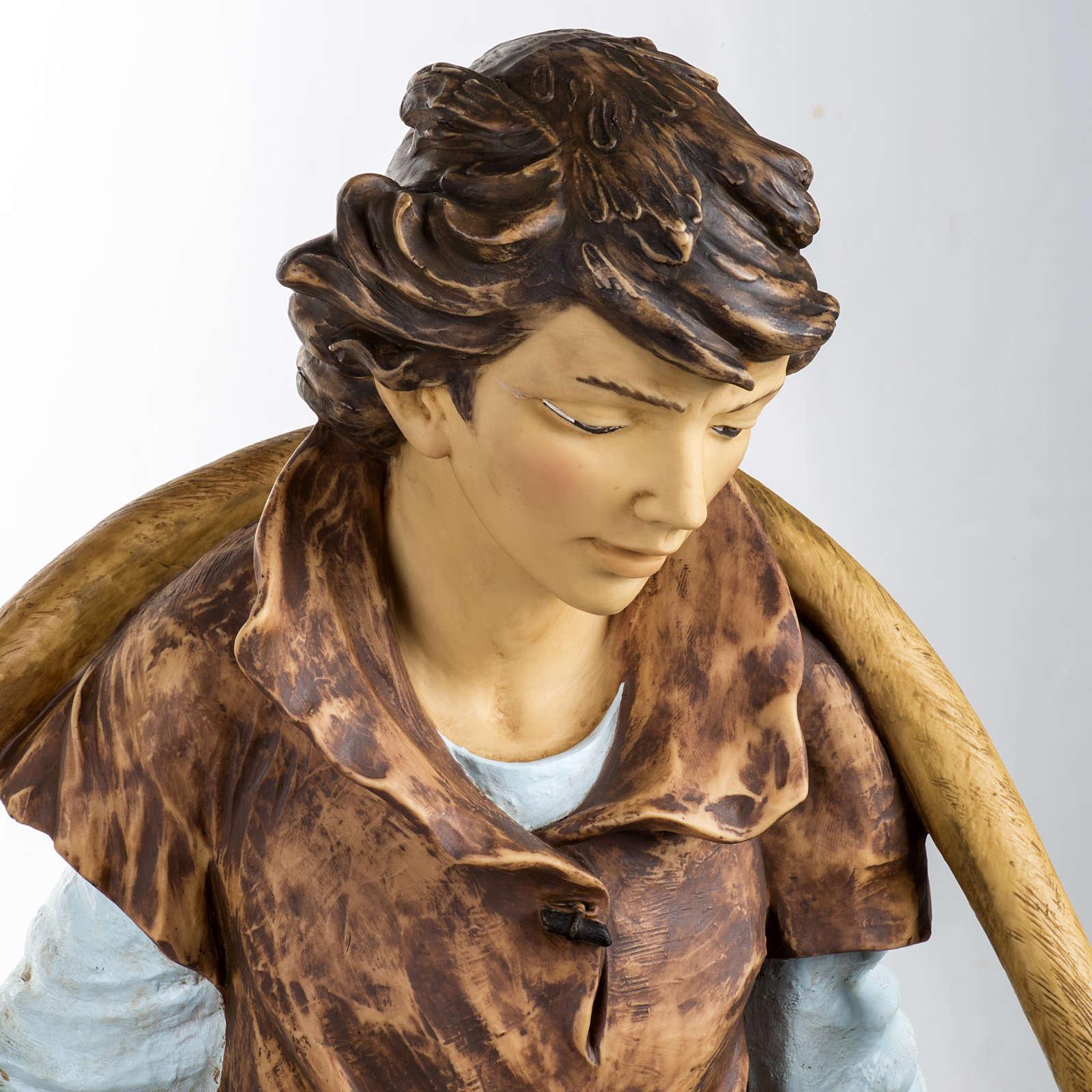 Pastore con secchi 125 cm resina Fontanini 3