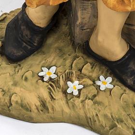 Pastore con secchi 125 cm resina Fontanini s3