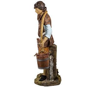 Pastore con secchi 125 cm resina Fontanini s6
