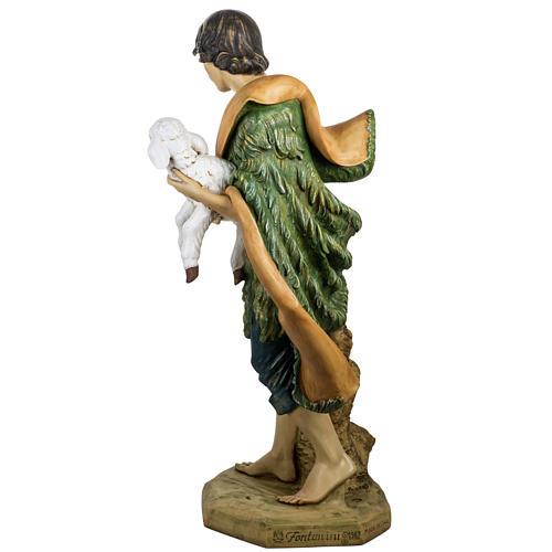 Pastore con pecora 125 cm presepe Fontanini 4