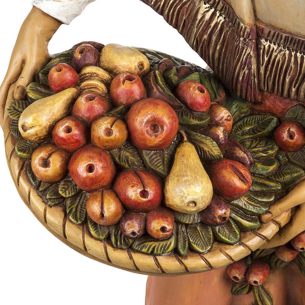 Femme avec fruits crèche Fontanini 125 cm résine 3