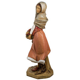 Femme avec fruits crèche Fontanini 125 cm résine s11