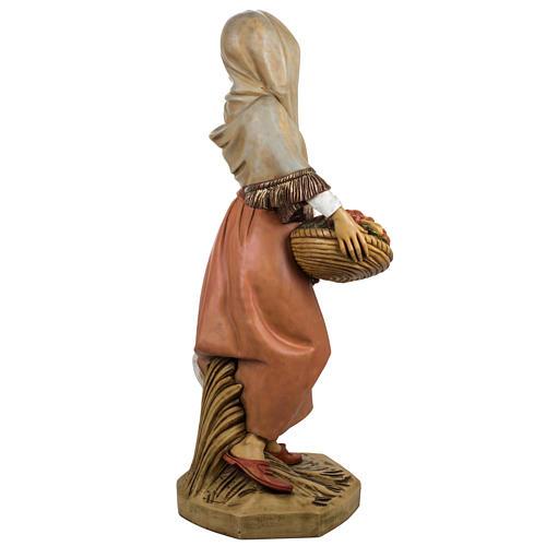 Femme avec fruits crèche Fontanini 125 cm résine 9