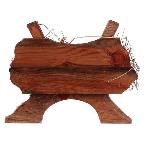 Bambinello vestito e culla in legno per presepe 125 cm Fontanini 8