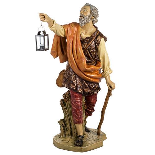 Pastore con lanterna 125 cm presepe Fontanini 1