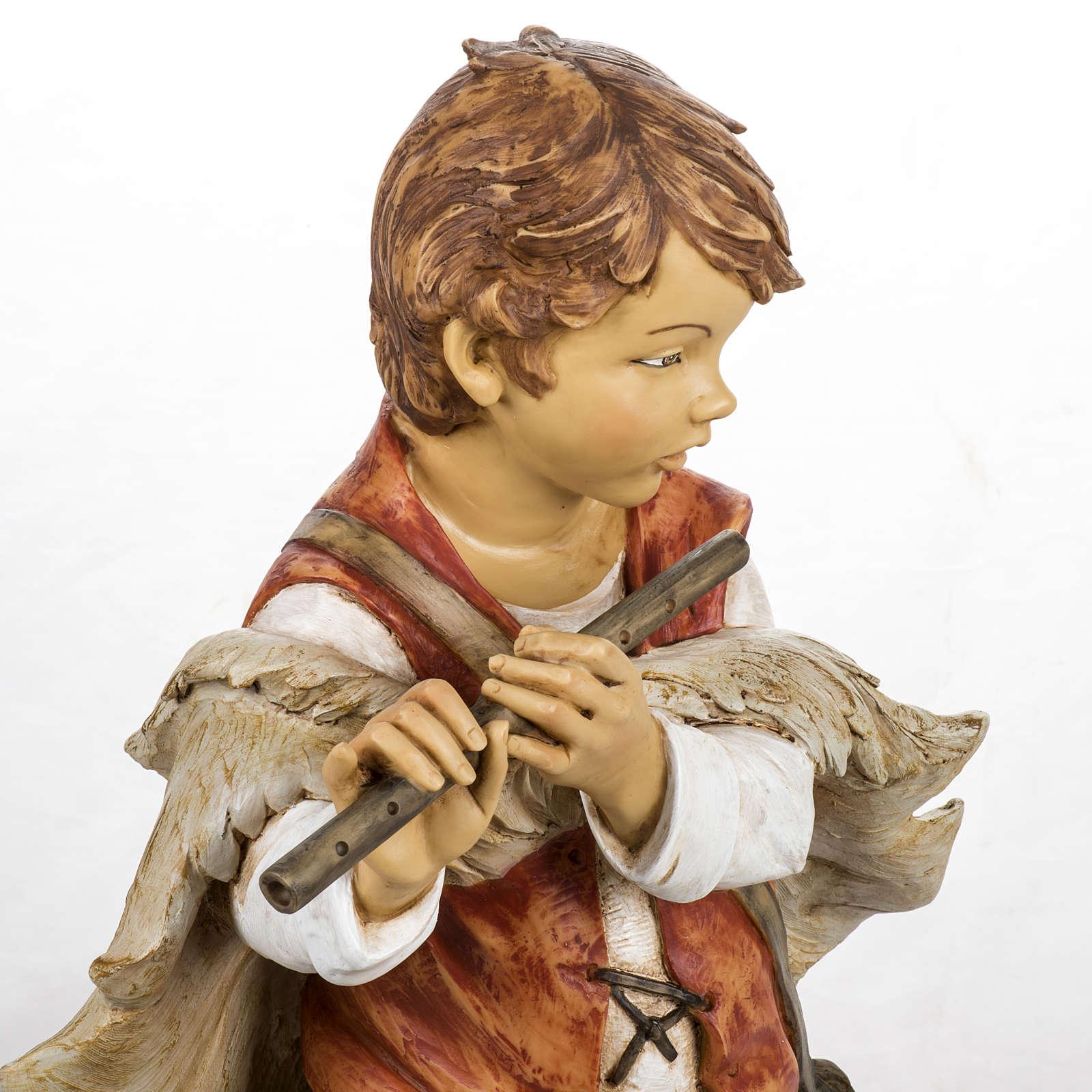 Bambino con flauto 125 cm presepe Fontanini 3