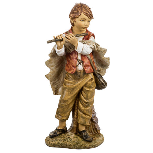 Bambino con flauto 125 cm presepe Fontanini 1