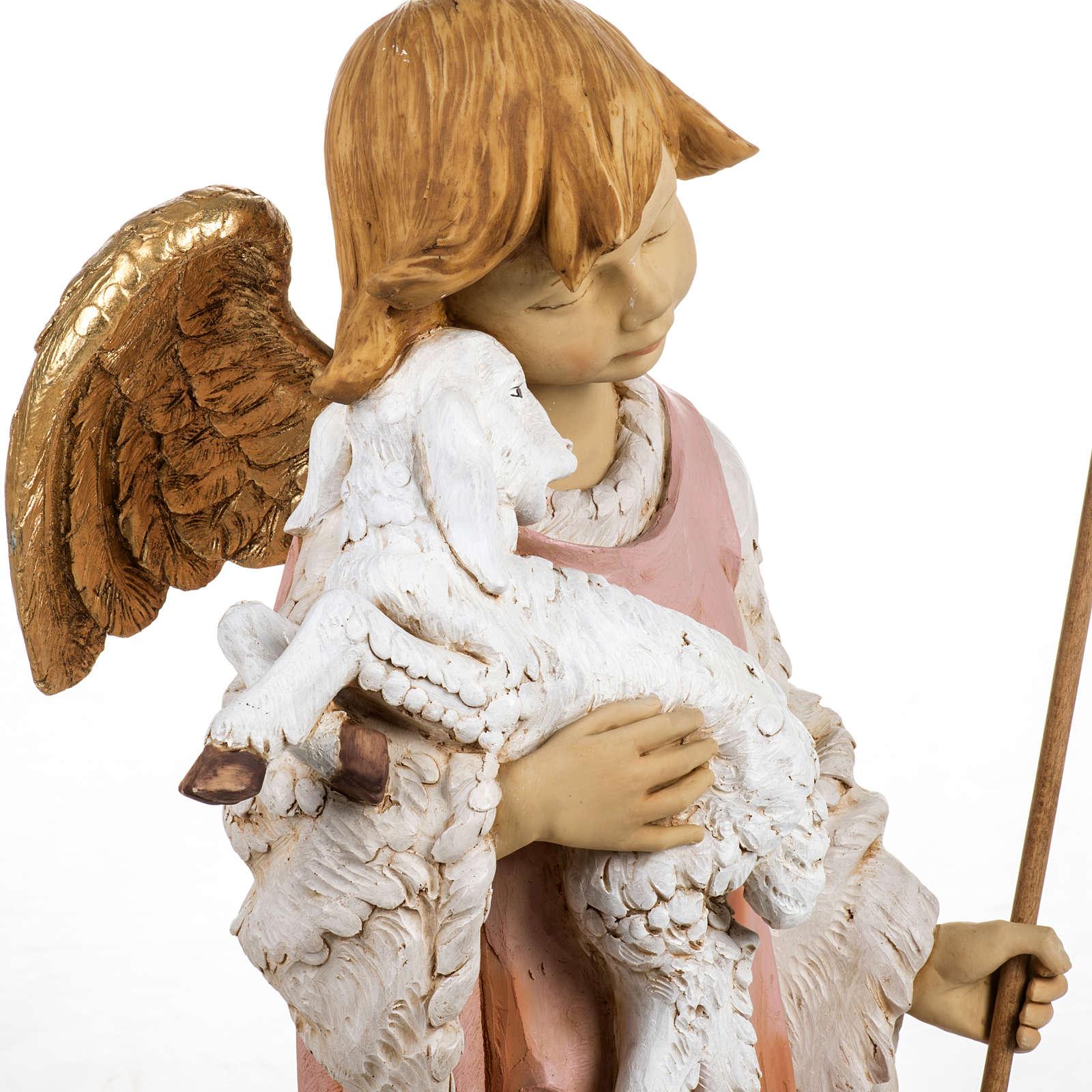 Ange et agneau crèche Fontanini 125 cm résine 3
