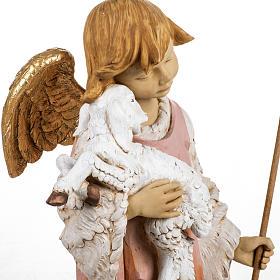 Ange et agneau crèche Fontanini 125 cm résine s3
