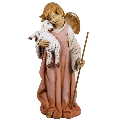 Ange et agneau crèche Fontanini 125 cm résine 1