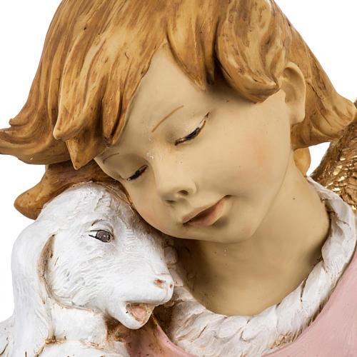 Ange et agneau crèche Fontanini 125 cm résine 2